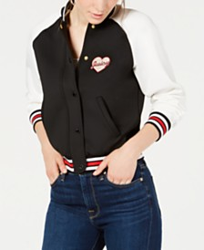 Juicy Couture Letterman Bomber Jacket