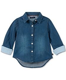Baby Girls Cotton Striped Shirt