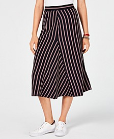 Striped Midi Skirt, Created for Macy's