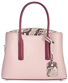 kate spade new york Margaux Snake-Embossed Leather Small Satchel
