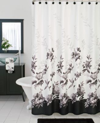 lenox bath accessories moonlit garden shower curtain
