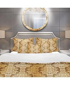 Designart 'Damask Pattern' Mid-Century Modern Duvet Cover Set - Twin