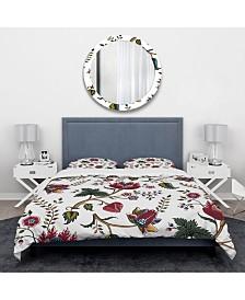 Designart 'Indian Floral Pattern' Tropical Duvet Cover Set - King