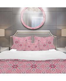 Designart 'Cute Abstract Mosaics Pattern' Bohemian and Eclectic Duvet Cover Set - Queen