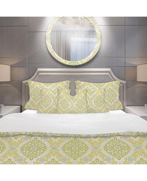 Design Art Designart 'Pattern In Eastern Style' Mid-Century Modern Duvet Cover Set - Twin