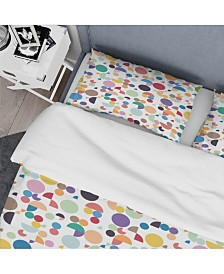 Designart 'Retro Abstract Geometric Pattern' Mid-Century Modern Duvet Cover Set - King