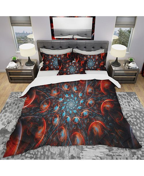 Design Art Designart 'Rapid Expansion' Modern and Contemporary Duvet Cover Set - Queen