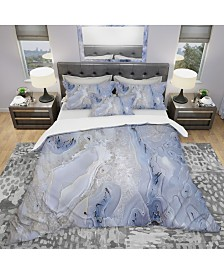 Designart 'Agate Stone Background' Modern and Contemporary Duvet Cover Set - Twin