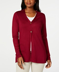 Karen Scott Long Cardigan, Created for Macy's