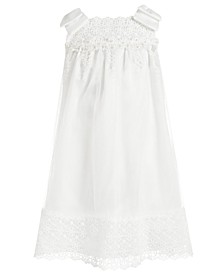 Toddler Girls Embellished Mesh & Satin Bow-Shoulder Dress