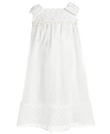 Toddler Girls Embellished Mesh & Satin Bow-Shoulder Dress
