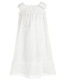 Bonnie Jean Toddler Girls Embellished Mesh & Satin Bow-Shoulder Dress