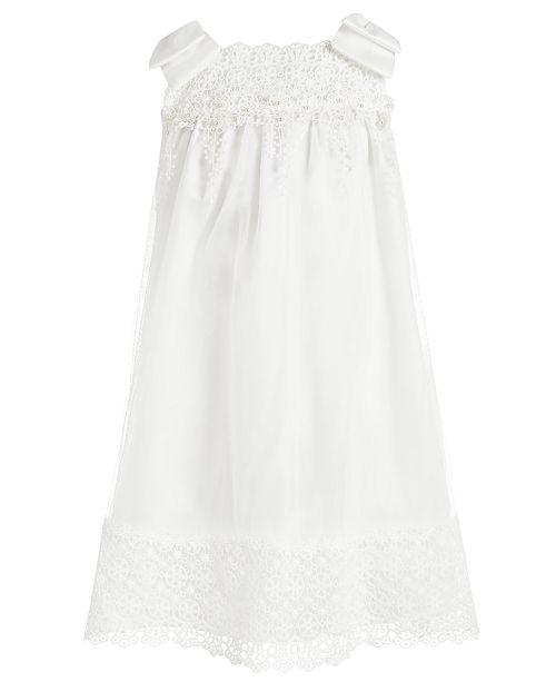 Bonnie Jean Toddler Girls Embellished Mesh & Satin Bow-Shoulder Dress