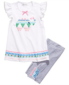 Little Girls 2-Pc. Elephant-Print Top & Bike Shorts Set