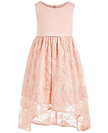 Little Girls Soutache-Skirt High-Low Dress