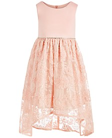 Bonnie Jean Little Girls Soutache-Skirt High-Low Dress