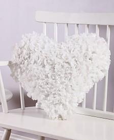 Calista 18x18 Heart Paper Shag Pillow