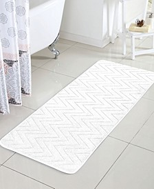 "Chevron 24"" x 60"" Memory Foam Bath Runner"