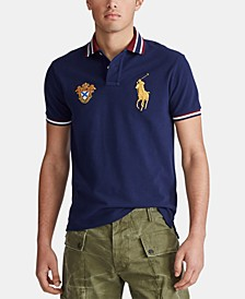 Men's Custom Slim Fit Big Pony Mesh Polo Shirt