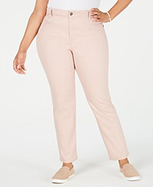 Plus Size High-Rise Slim-Leg Jeans, Created for Macy's