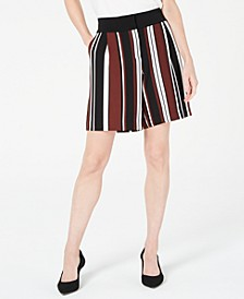 Striped Side-Pocket Shorts, Created for Macy's