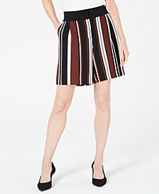 Alfani Striped Side-Pocket Shorts, Created for Macy's