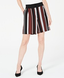 Alfani Striped Side-Pocket Shorts, Created for Macy's