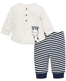 Baby Boys 2-Pc. Cotton Top & Jogger Pants Set