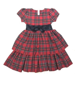 Mi Amore Gigi Big Girl Holiday Dress With Attached Satin Bow