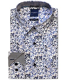 Men's Modern-Fit Stretch Floral-Print Dress Shirt