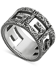 Gucci Openwork G Logo Ring in Sterling Silver, YBC551918001014