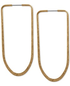 Lucky Brand Large Long Hoop Earrings 2-2/5""