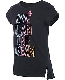 Big Girls Team-Print T-Shirt