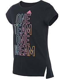 adidas Big Girls Team-Print T-Shirt