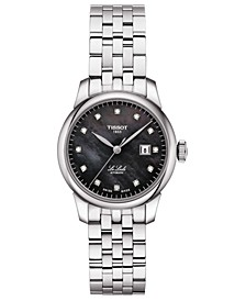 Women's Swiss Automatic Le Locle Diamond-Accent Stainless Steel Bracelet Watch 29mm