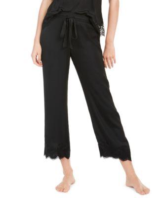 Fairtytale Lace-Trim Satin Sleep Pants
