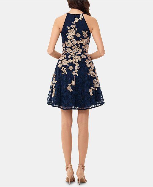 273d9355 XSCAPE Lace Fit & Flare Dress & Reviews - Dresses - Women - Macy's