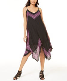 I.N.C. Petite Printed Handkerchief-Hem Dress, Created for Macy's