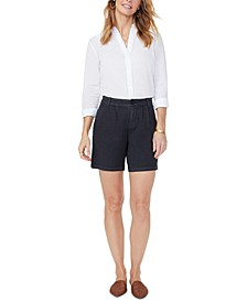 Tummy-Control Pleated Relaxed Shorts