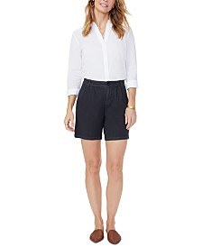 NYDJ Tummy-Control Pleated Relaxed Shorts