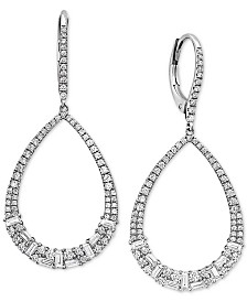 EFFY® Diamond Diamond Drop Earrings (1-1/6 ct. t.w.) in 14k White Gold