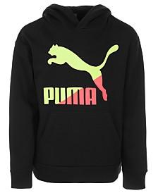 Puma Big Boys Logo-Print Hoodie