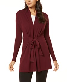 I.N.C. Tie-Waist Cardigan, Created for Macy's