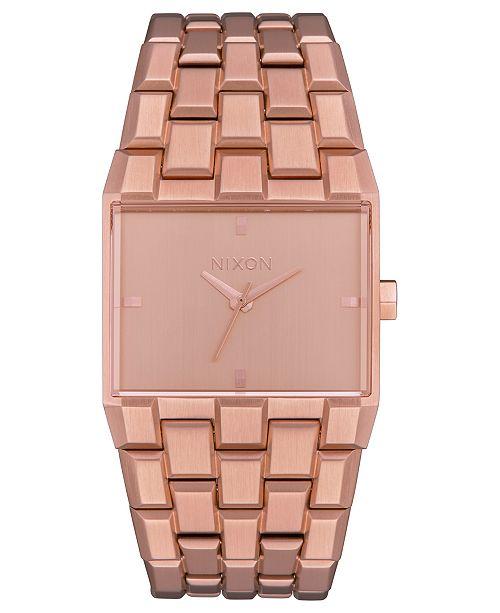 Nixon Women's Ticket Rose Gold-Tone Stainless Steel Bracelet Watch 34mm