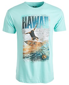 Univibe Men's Hawaii Surf Graphic T-Shirt