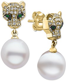 EFFY® Multi-Gemstone Panther Drop Earrings in 14k Gold