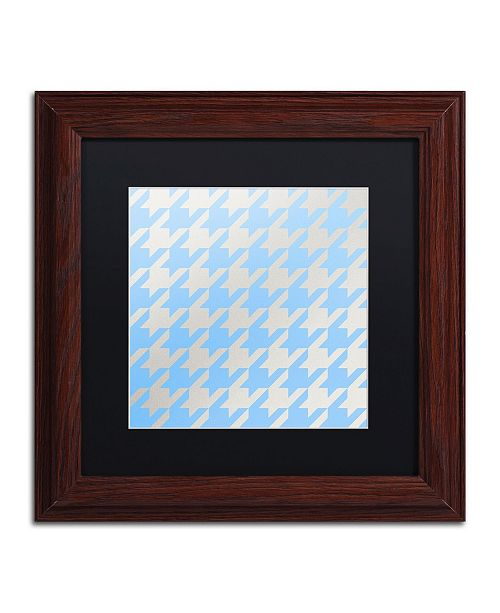 """Trademark Global Color Bakery 'Xmas Houndstooth 3' Matted Framed Art - 11"""" x 11"""""""