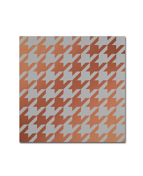 "Trademark Global Color Bakery 'Xmas Houndstooth 4' Canvas Art - 24"" x 24"""