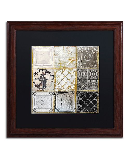 "Trademark Global Color Bakery 'Tintypes' Matted Framed Art - 16"" x 16"""