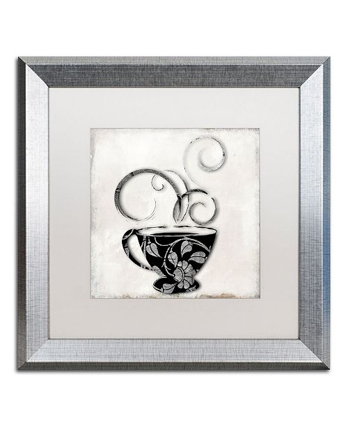 "Trademark Global Color Bakery 'Silver Brewed 1' Matted Framed Art - 16"" x 16"""